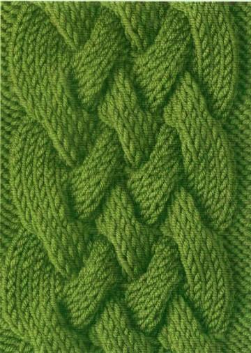 узор косы спицами, вязание