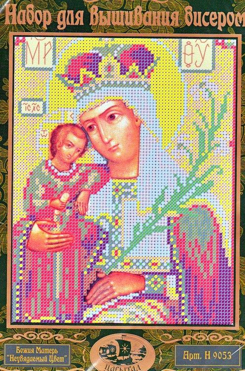 Божия Матерь Неувядаемый цвет (Н9053) вышивка бисером набор.