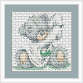 Мишка тедди набор вышивки