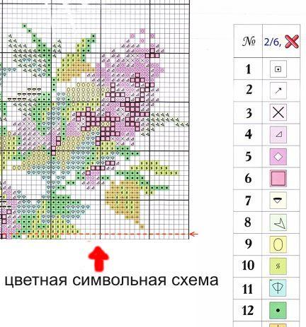 Бумажные схемы для вышивания