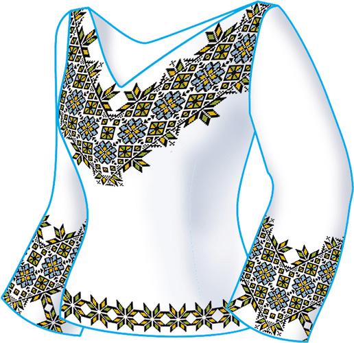 Схема + выкройка, блуза