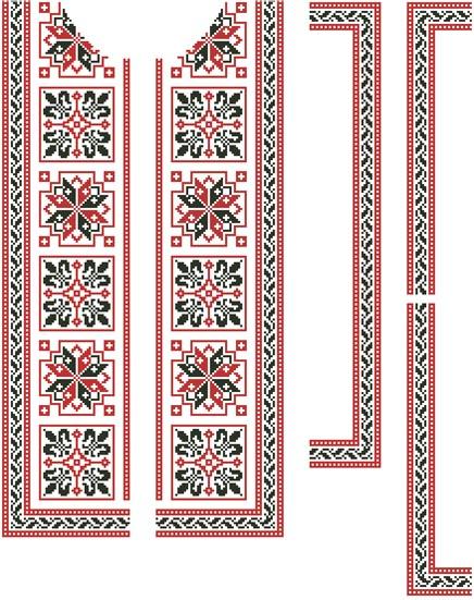 Схема узору вишиванки
