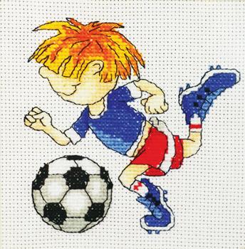 Схемы для вышивки футболист